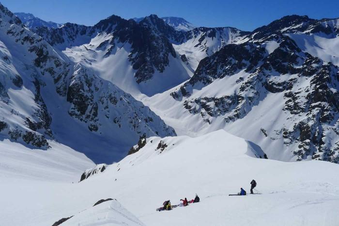 heli skiing chile
