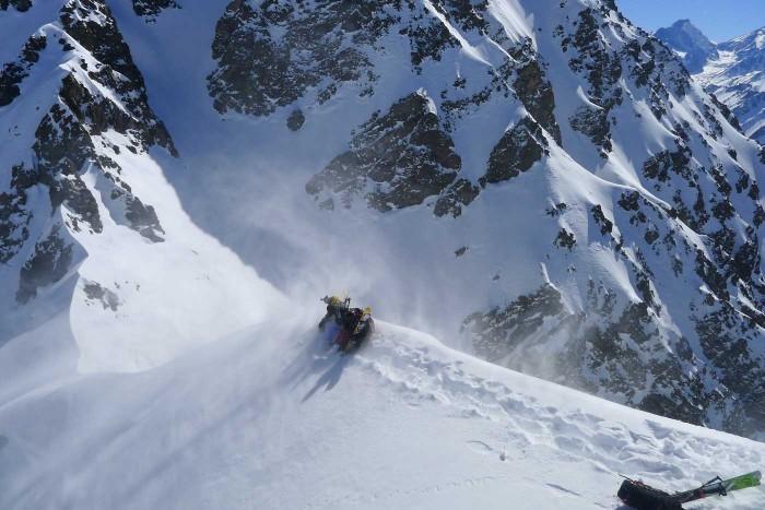 chile heli ski dropoff