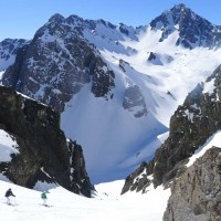 Couloir skiing in Chile