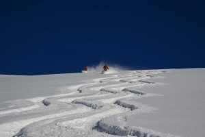 Chilean powder skiiing