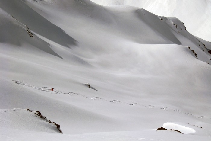 heli skiing in argentina