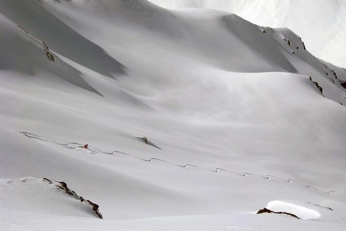heli skiing in argentina