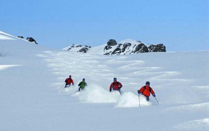 heli skiing in south america